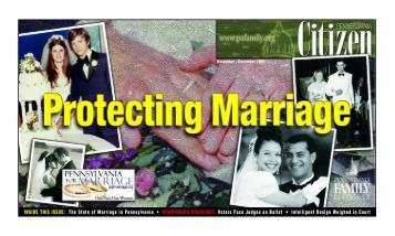 INSIDE THIS ISSUE: The State of Marriage in Pennsylvania ...