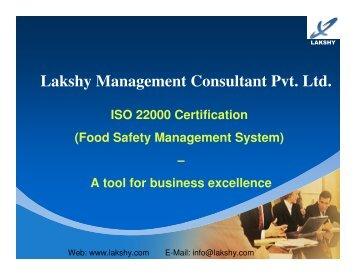 HACCP ISO 22000 awareness presentation - Lakshy