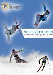 Funding Opportunities - Ski & Snowboard Australia