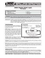 MSD Digital Shift Light - MPS Racing