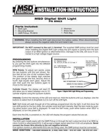 Msd rpm activated switch mps racing msd digital shift light mps racing sciox Images