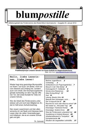 2012- Januar (7,2 MB) - Robert Blum Gymnasium