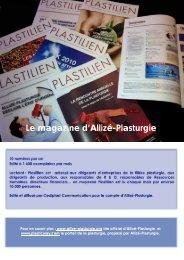 Devenir Partenaire de Plastilien (dossier PDF) - Allize-Plasturgie