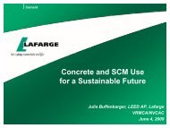 Concrete & Cementitous Materials for a Sustainable Future