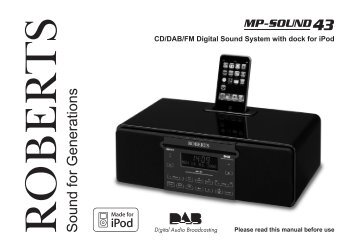 CD/DAB/FM Digital Sound System with dock - Roberts Radio
