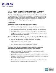 Fact Sheet: EAS Post-Workout Nutrition Survey - Abbott Nutrition