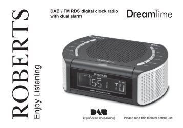 DAB / FM RDS Digital clock Radio ROBERTS With - Roberts Radio