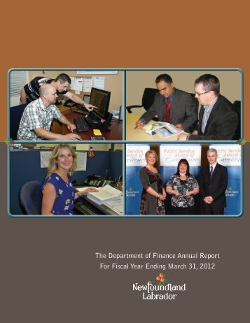 2011-12 Annual Report - Finance - Government of Newfoundland ...