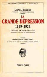 LA GRANDE DEpRESSION - Institut Coppet