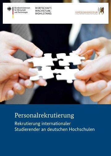 Rekrutierung von internationalen Studierenden (PDF, 297 KB)