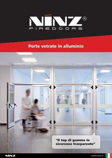 Porte vetrate in alluminio