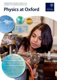 Physics at Oxford - Department of Physics - University of Oxford