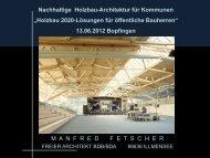 Nachhaltige Holzbau- Architektur für Kommunen - Clusterinitiative ...