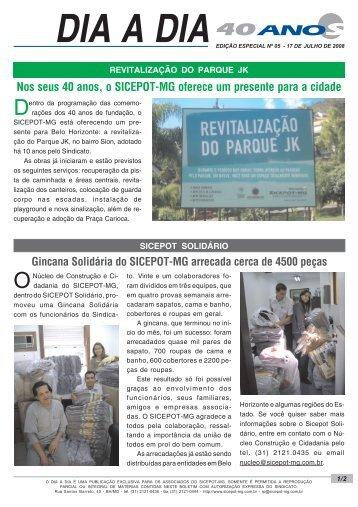 Edição nº 05/2008 - Boletim Dia a Dia Especial - sicepot-mg