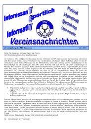 TSV Zeitung 2006 (als pdf-file) - von TSV Escherode