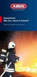 Brandschutz Was tun, wenn es brennt? - Abus