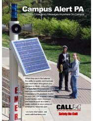 Campus Alert Public Address Brochure