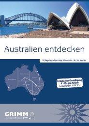 Australien entdecken - bei Grimm-Reisen