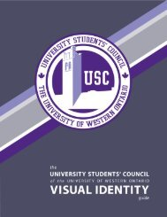 USC Visual Identity Guideline - USC: University Students' Council of ...