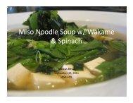 Miso Noodle Soup w/ Wakame & Spinach - International Algae ...