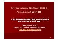 Jean Philippe Accart, Université de Genève - KFH