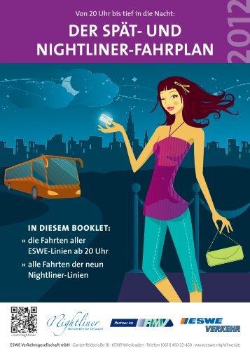 Spät- und Nightliner-Fahrplan Wiesbaden 2012