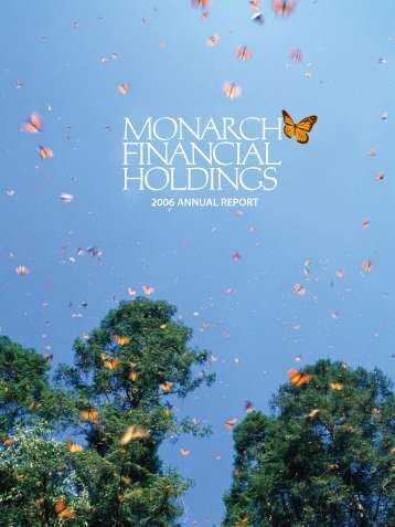 2006 ANNUAL REPORT - Monarch Bank
