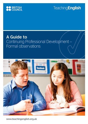 Formal observations - EnglishAgenda - British Council