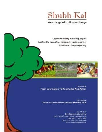 Capacity Building Workshop Report - CDKN Global