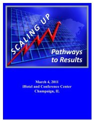 Scaling UP - Office of Community College Research and Leadership
