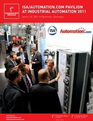 Download the Industrial Automation Pavilion brochure. - ISA