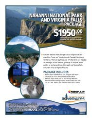 NahaNNi NatioNal Park aND VirgiNia Falls PACKAGE