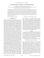 Microscopic origin of exchange bias in core/shell nanoparticles