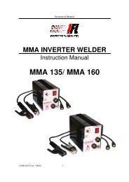 MMA 135/ MMA 160 - Inverter Fusion Ltd