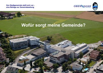 Ausgabe 03/2013 GESUNDHEITSVERSORGUNG - Oberndorf bei ...