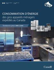 Consommation d'énergie des gros appareils ménagers expédiés au ...