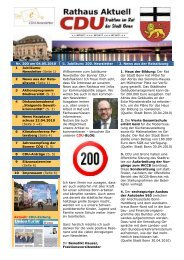 Nr. 200 am 04.05.2010 1. Jubiläum - CDU-Kreisverband Bonn