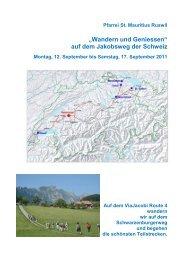 """""""Wandern und Geniessen"""" auf dem Jakobsweg ... - Pfarrei-ruswil.ch"""