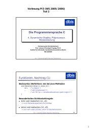 Vorlesung PI3 (WS 2005/2006) - dbis - Humboldt-Universität zu Berlin