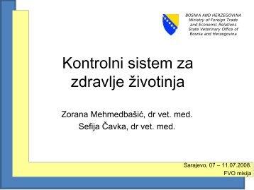Kontrolni sustav za zdravlje životinja - Kancelarija za veterinarstvo