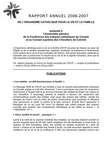 A N N U A L  R E P O R T - Conférence des évêques catholiques du ...