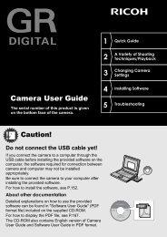GR DIGITAL Camera User Guide - Ricoh