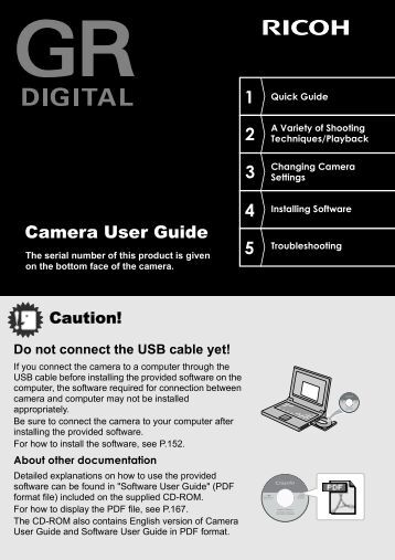 GR DIGITAL Camera User Guide - Ricoh