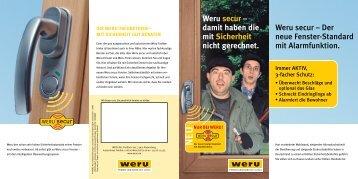 Prospekt: Weru secur - Der neue Fenster-Standard mit Alarmfunktion