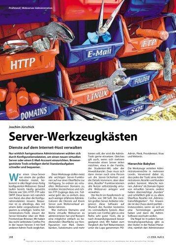Server-Werkzeugkästen - Parallels