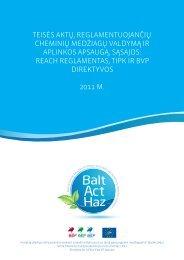 PDF – 1.2 MB (Lietuvių k., 2011) - Baltijos aplinkos forumas Lietuvoje