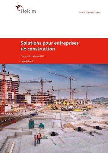 Solutions pour entreprises de construction