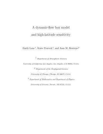 A dynamic-flow box model and high-latitude sensitivity