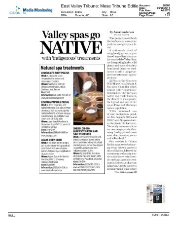 Valley Spas Go Native - Sheraton Wild Horse Pass Resort & Spa