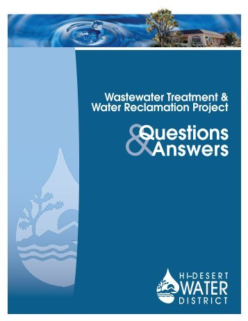 Wastewater Treatment & Water Reclamation Project Questions ...